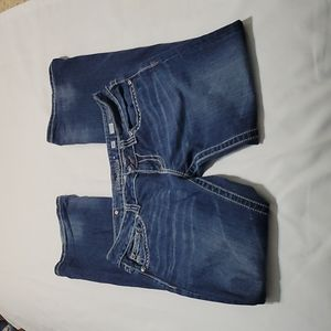 Miss Me medium wash mid rise bootcut jeans size 30
